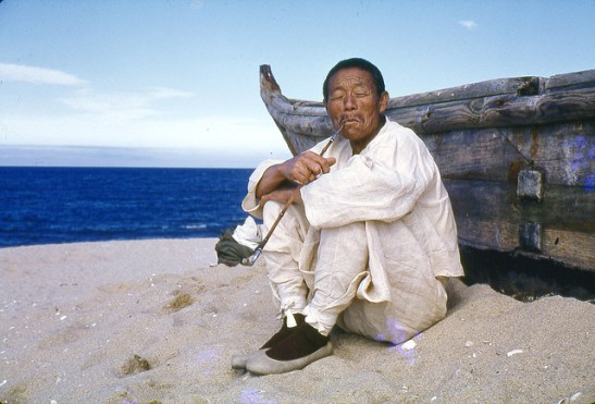 Korean man near boat 1960