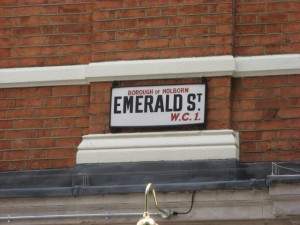 Emerald Street, London, UK: June 2011