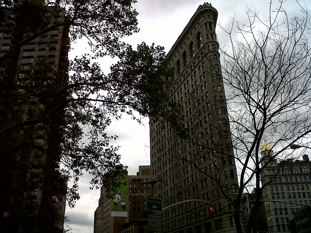Flatiron Building as seen from my #ededc workplace in Madison Square Park, New York City