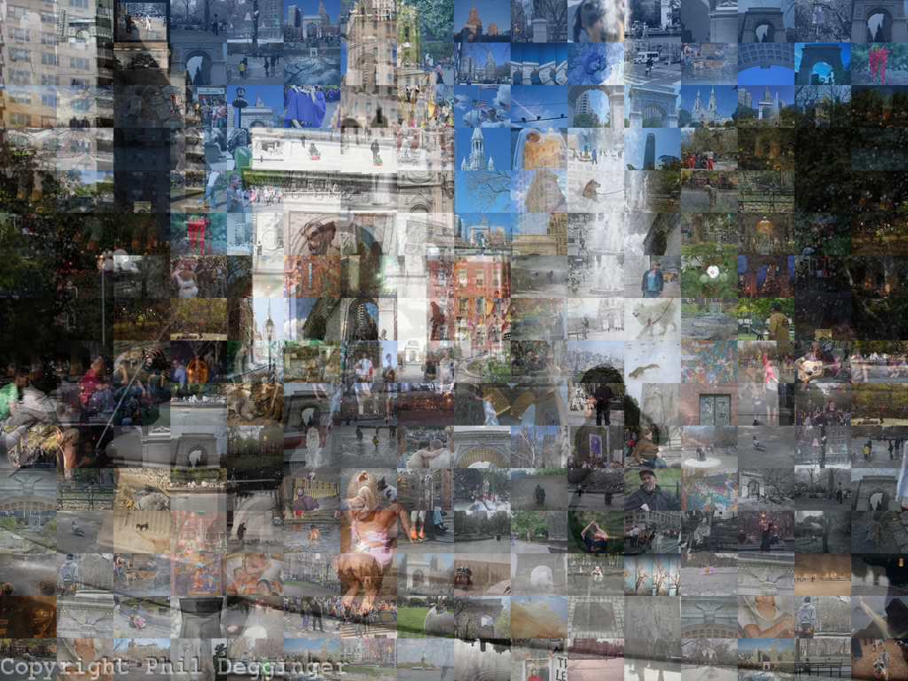 Mosaics from Washington Square Park,  New York City