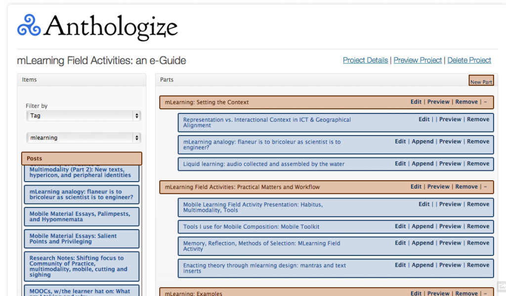 Anthologize WordPress plugin