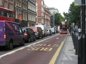 This is a bus lane. Enjoy. London, UK: June 2011