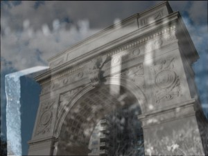 Washington Square Park Arch Superimposed with Potter's Field