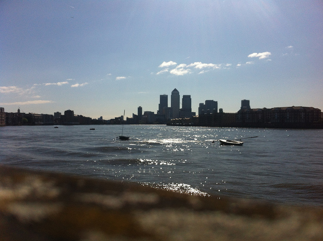 Shadwell overlooking the Thames, London