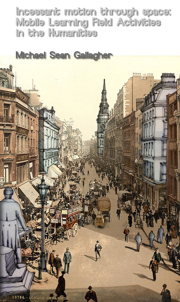 Eastcheap, London remixed. Original image made available by the Library of Congress.