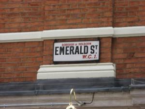 Emerald Street, London, UK: June 2011