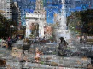 Mosaics from Washington Square Park,  New York City