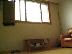 Our apartment window from Seodaemun, Seoul, Korea. Our home from 2003-2005.