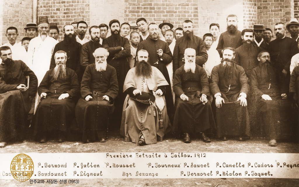 Seo Sang Don in Daegu, Korea (1912) with French Catholic priests