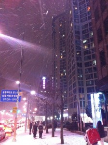 Snow in Mapo (마포구), Seoul: December 23, 2011