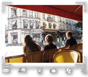 Paris Cafe, Rue Vavin