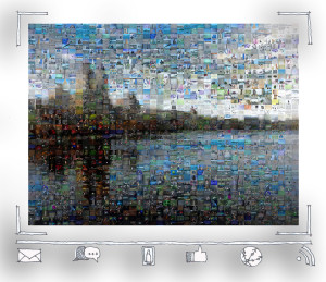 Mosaic of Central Park, New York