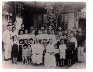 My wife's mother is there off to the right as a baby (being held by her mother) in Daegu in 1948.